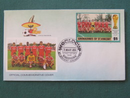 Grenadines Of St. Vincent 1986 FDC Cover - Football Soccer Mexico FIFA Cup - Canada Team - St.Vincent & Grenadines