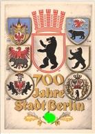 Deutsches Reich Propaganda Karte BERLIN 700 Jahre Jubiläum Sonderstempel 13.8.1937 FAHRBARES POSTAMT - Briefe U. Dokumente