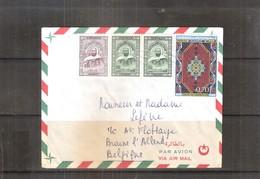 Lettre D'Algérie Vers La Belgique - Tapis Du Guergour (à Voir) - Algérie (1962-...)