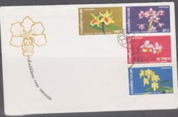 THAILAND -  1976 - ORCHIDS   SET OF 4 ON  ILLUSTRATED FDC - Thailand