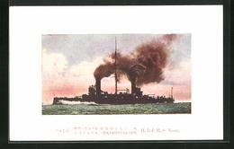 AK Kriegsschiff H. I. J. M. S. Nissin In Voller Fahrt - Guerra