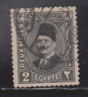 EGYPT Scott # 129a Used - King Fuad Portrait - Egypt