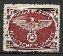 GERMANIA REICH IMPERO 1942 FRANCHIGIA MILITARE FRANCOBOLLO PER PACCHI POSTALI UNIF. 2 A USATO VF - Service