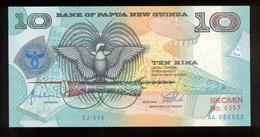 Papua New Guinea 1998 10 Kina Specimen Commemorative №357 AUNC-UNC - Papoea-Nieuw-Guinea