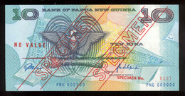 Papua New Guinea 1988 10 Kina Specimen №227 AUNC-UNC - Papua Nueva Guinea