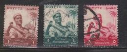EGYPT Scott # 368, 371-2 Used - Farmer - Used Stamps