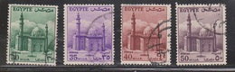 EGYPT Scott # 331, 333, 335-6 Used - Mosque Of Sultan Hassan - Egypt