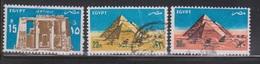 EGYPT Scott # 178, C180, C182 Used - Temple Of Horus & Pyramids - Egypt