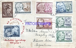 117015 HUNGARY BUDAPEST COVER YEAR 1951 CIRCULATED TO ARGENTINA MULTI STAMPS NO POSTAL POSTCARD - Hongrie