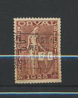 Perforé  Perfin Sur Orval 261 Oblitéré - 1909-34