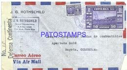 117029 COSTA RICA SAN JOSE COVER YEAR 1942 CENSORED CIRCULATED TO COLOMBIA NO POSTAL POSTCARD - Costa Rica