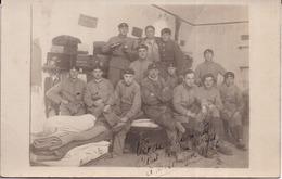 """CARTE-PHOTO 506è RCC Tankistes Militaires, """"Vie De Chambrée"""", Au Dos """"Vie De Famille"""", à Besançon 1926 - Regimientos"""