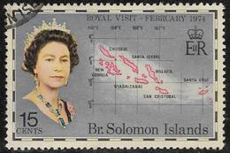 British Solomon Islands SG252 1974 Royal Visit 15c Good/fine Used [40/32581/2D] - British Solomon Islands (...-1978)