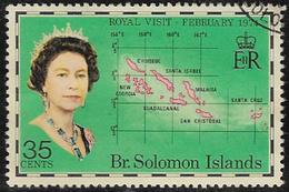 British Solomon Islands SG253 1974 Royal Visit 35c Good/fine Used [40/32582/2D] - Isole Salomone (...-1978)
