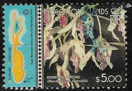 Solomon Islands SG MS990(ex) 2001 Hong Kong Stamp Exhibition $5 Good/fine Used [40/32583/2D] - Solomon Islands (1978-...)