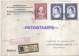 117076 AUSTRIA WIEN COVER YEAR 1953 REGISTERED CIRCULATED TO ARGENTINA NO POSTAL POSTCARD - Austria