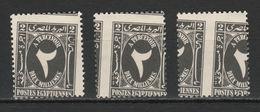 Egypt -1927 - Rare - Misperef. - 3 Different - ( Postage Due - 2m ) - MNH (**) - Egypt