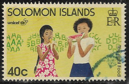 Solomon Islands SG870 1996 50th Anniversary Of UNICEF 40c Good/fine Used [40/32585/2D] - Solomon Islands (1978-...)