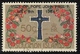 Solomon Islands SG518 1984 Visit Of Pope John Paul II 50c Good/fine Used [40/32587/2D] - Solomon Islands (1978-...)