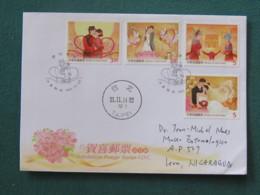 Taiwan 2014 Cover To Nicaragua - Wedding - 1945-... République De Chine