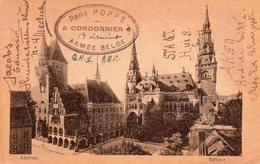 CV Expédiée D'AACHEN Par Un Cordonnier Militaire Belge Vers Malines - Oblitération PMB 1 (1920) - Postmark Collection