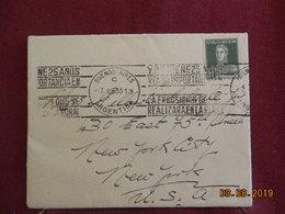 Lettre De 1933 à Destination De New York USA - Lettres & Documents