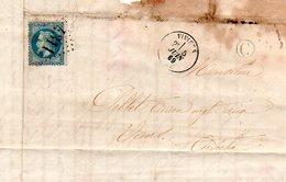 H9 LAC De VIVIERS Ardeche 1869  GC Sur 29 Boite Rurale C : Aps - Postmark Collection (Covers)