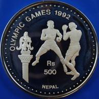 Népal, 500 Rupees 1992 - Silver Proof - Népal