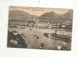 Cp , Bateau à Vapeur ,  Italie , Un Saluto Da COMO , écrite - Bateaux