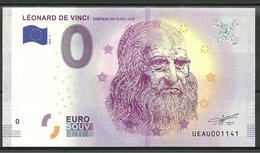 Billet Touristique 0 Euro 2018-3  Léonard De VINCI - EURO