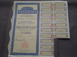 MAHAJAMBA Majunga Madagascar / Nr. 081.585 : Action De 500 Francs Au Porteur > 1928/32/35 ( Voir Photo ) ! - M - O