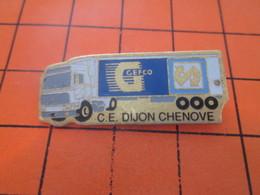 615A  PIN'S PINS / Rare Et De Belle Qualité ! / Thème : TRANSPORT / CAMION 38 T GEFCO DIJON CHENOVE - Transports