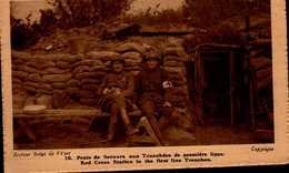POSTE DE SECOURS AUX TRANCHEES DE PREMIERE LIGNE...CPA ANIMEE - War 1914-18