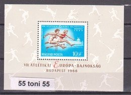 1966 European Athletic Championships Mi 2270,Bl.54A S/S-MNH  Hungary - Athlétisme