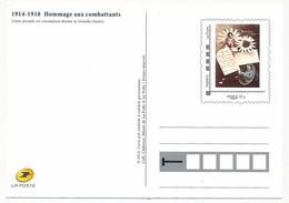 """FRANCE - 1 Carte Postale  """"1914/1918 Hommage Aux Combattants"""" (petite Poste Du Front), Neuve, Très Bon état - Cartes Postales Types Et TSC (avant 1995)"""