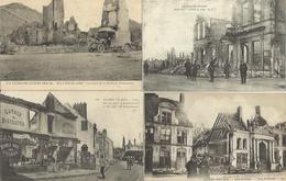 9490 Lot De 50 CPA Villes Et Villages Bombardés - War 1914-18