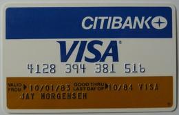 USA - Credit Card - VISA - Citibank - Exp 10/84 - Used - Geldkarten (Ablauf Min. 10 Jahre)