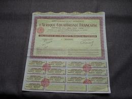 L'AFRIQUE EQUATORIALE Française / Nr. 013.412 : Obligation De 500 Francs Au Porteur > 1958 ( Voir Photo ) - A - C