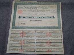 C.P.E.C.I. / Nr. 001.300 : Part Bénéficiaire Au Porteur > 1924 Paris ( Voir Photo ) - Actions & Titres