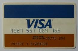 USA - Credit Card - VISA - Exp 05/78 - Used - Krediet Kaarten (vervaldatum Min. 10 Jaar)