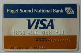 USA - Credit Card - VISA - Puget Sound National Bank - Exp 02/82 - Used - Krediet Kaarten (vervaldatum Min. 10 Jaar)