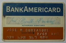 USA - Credit Card - Bank Americard - Early Predecessor Of VISA - Exp 2/69- Used - Krediet Kaarten (vervaldatum Min. 10 Jaar)