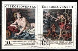 Tschechoslowakei Mi. 2972-2973 ZD A. Pap. Gestempelt (6669) - Tschechoslowakei/CSSR
