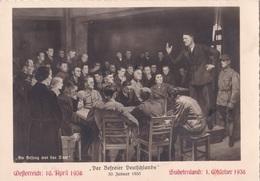 Propagandakarte- Der Befreier Deutschlands- - Weltkrieg 1939-45