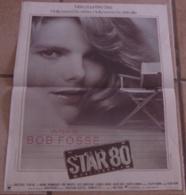 AFFICHE CINEMA ORIGINALE FILM STAR 80 BOB FOSSE Mariel HEMINGWAY 1982 Jouineau Bourduge HOLLYWOOD - Affiches & Posters