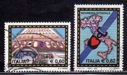 ITALIA REPUBBLICA ITALY REPUBLIC 2004 CAMPAGNA PER LA SICUREZZA STRADALE SERIE COMPLETA COMPLETE SET USATA USED OBLITERE - 6. 1946-.. Repubblica