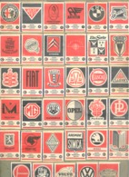 Lot De 35 Façades De Boite D'allumettes - Marque Automobile, Sigle, Insigne,.. - Oldtimer, Auto,... (rmt) - Boites D'allumettes - Etiquettes