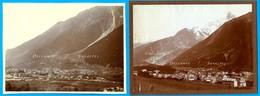 Chamonix 1903 Et 1910 * Nombreux Hôtels (2 En Construction), Source Sulfureuse (cf Descriptif) * 2 Photos Originales - Places