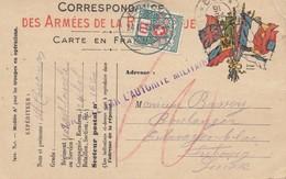Frankreich: 1916: Post Card Militär In Die Schweiz - Ohne Zuordnung