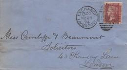 England: 1874: Liverpool Nach London - Ohne Zuordnung
